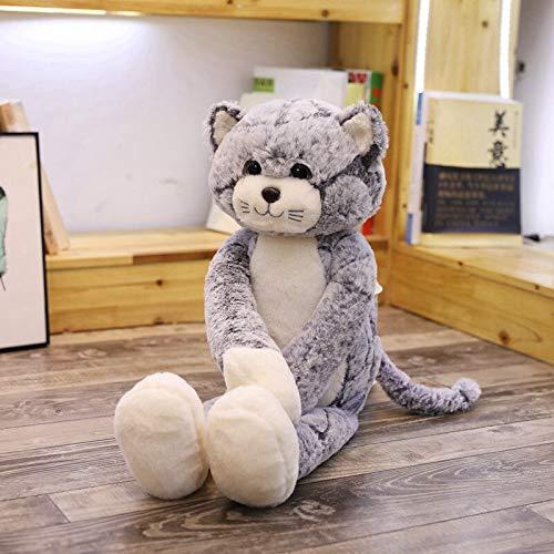 N / A Gatos Kawaii Juguetes de Peluche Animales de Peluche Lindos muñecos de Gato Esponjoso Juguetes Suaves para niños Regalo de cumpleaños para niños 70cm