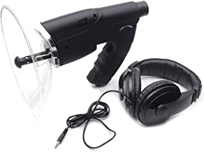 Parabolic Microphone Monocular, Sound Amplifier Spy Ear Bionic Listening Device, Long Range Listening Device up to 300 FT ...