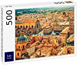 Lais Puzzle Vista aérea del Paisaje Urbano de la Piazza Maggiore y la Iglesia de San Petronio en la Ciudad de Bolonia 500 Piezas
