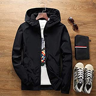 Thin Jacket Female Spring Autumn Large Size 7XL Overalls Summer Sunscreen Windbreaker Jacket Sunscreen Clothing Couple Models jacket (Color : Black, Size : 4XL)
