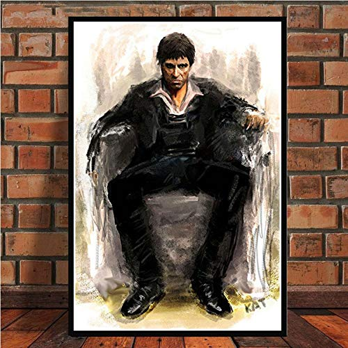 Flduod AL PACINO SCARFACE Gangster Movie Art Poster Canvas Schilderij Muur Foto Voor Home Decor Posters en Prints40x50cm