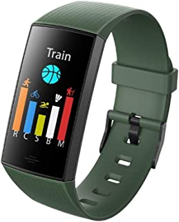 Smart Sports Bracelet Real-time Blood Pressure Heart Rate Monitoring Smart Watch Remote Control Camera IP67 Waterproof Information Reminder Multi-Function Electronic Watch (Color : Green)