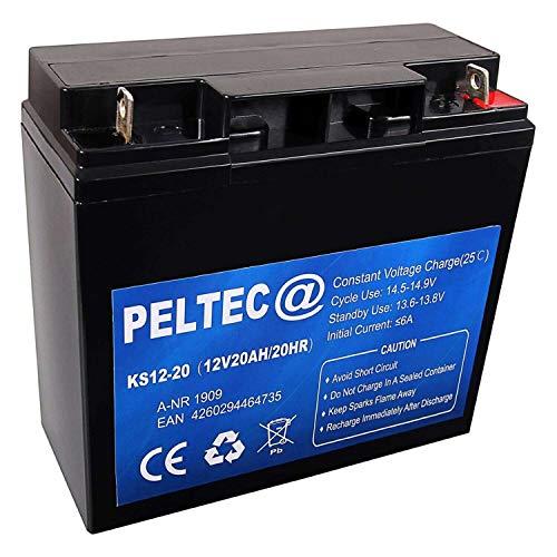 PELTEC@ Premium Blei AGM VLRA Akku Batterie 12V 20Ah 20HR, ersetzt auch 17Ah 18Ah 22Ah (zyklenfest + wartungsfrei)