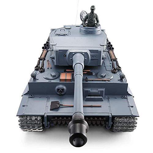 OUUED RC Tank, Heng Long Sd.Kfz.181 1/16 Schaal Duitse WW2 - Tiger metalen afstandsbediening tankwagen militair model 2.4GHz Simulation Panzer rupsbanden wagen RC Beste Cadeaus for Kerstmis Kids