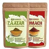 NABALI FAIRKOST FÜR ALLE Zaatar & Sumach nach Ottolenghi Qualitätsware aus Palästina I 100% naturell aromatisch traditionell orientalisch I ohne Konservierungsstoffe I vegan (je 50 Gr)