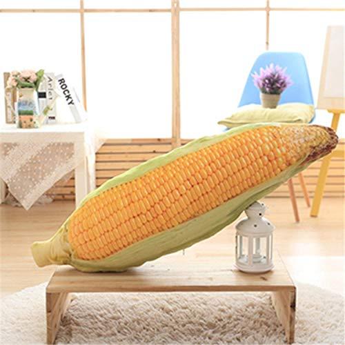 JJFU sierkussen vorm kussen hoofdkussen simulatie maïs kussen rugleuning hoofd volledig kussen 4 maten gedrukt zachte pluche stoel kussen persoonlijkheid kussen geschenk 50 cm