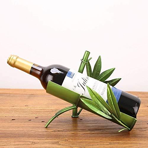DINGZXC Bar Soporte para Botellas Estante para Vino Estantes para Vino Simulación Urraca, Pavo Real, Bambú Estilo Chino Estante para Vino Adornos Obra de Arte/Alenamiento de Regalos