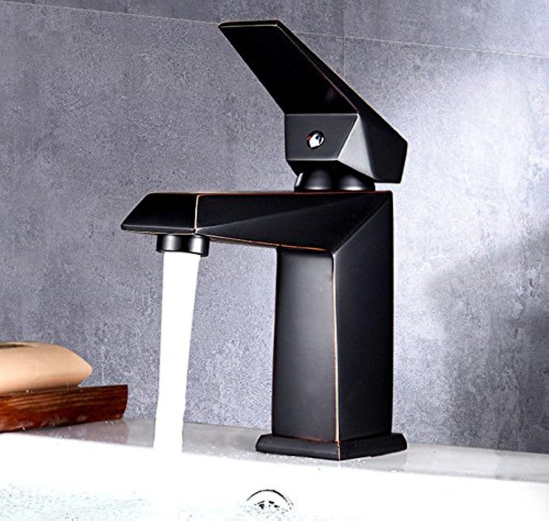 AQMMi Waschtischarmatur Mischbatterie Retro Messing Warmes Und Kaltes Wasser Einhandmischer Für Bad Badenzimmer Waschbecken