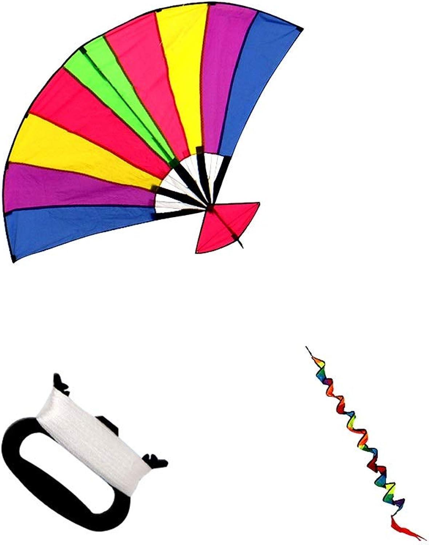 TYD.L Drachen J-074 Brise Leicht Zu Fliegen Langlebig Kind Erwachsener Anfnger Riesig Fan Drachen Verwendet Für Im Freien Park Strand Geschenk 1,9  1,2M (gre   Line length100M)