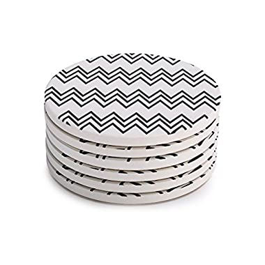 Lifver 6-Piece Absorbent Stone Coaster set,  drink  spills coasters
