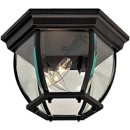 Amazon Com Minka Lavery Outdoor Ceiling Lighting 8889 A39 Mallorca Flush Mount 180 Watts Iron Home Improvement
