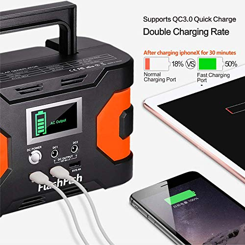 200W Peak Power Station, Flashfish CPAP Battery 166Wh 45000mAh Backup Power Pack 110V 150W Lithium Battery Pack Camping Solar Generator For CPAP Camping Home Emergency Power Supply