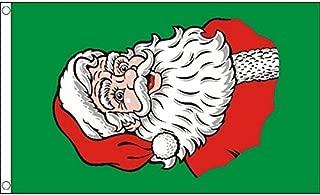 AZ FLAG Santa Face Flag 3' x 5' - Merry Christmas Flags 90 x 150 cm - Banner 3x5 ft