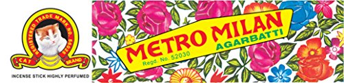Metro Milan Agarbatti Cat Brand Incense - 18 Sticks
