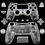 Carcasa Completa Carcasa Carcasa con Botones Para PS4 Para Sony Playstation 4 Controlador Inalámbrico (Transparente)