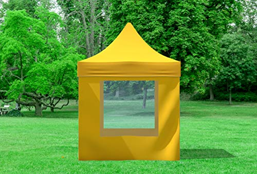 51WOiTIgHkL - Stabilezelte Faltpavillon 2x2 Meter Professional mit Fensterseiten gelb