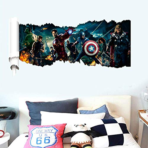 3d Wandtattoo Avengers Zeichentrickfilm Held 90x46cm Wandaufkleber Schlafzimmer Wohnzimmer Küche Home Decoration Tapete