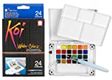 Sakura 24-Colors/Set Assorted Watercolors Field Sketch Set with Brush