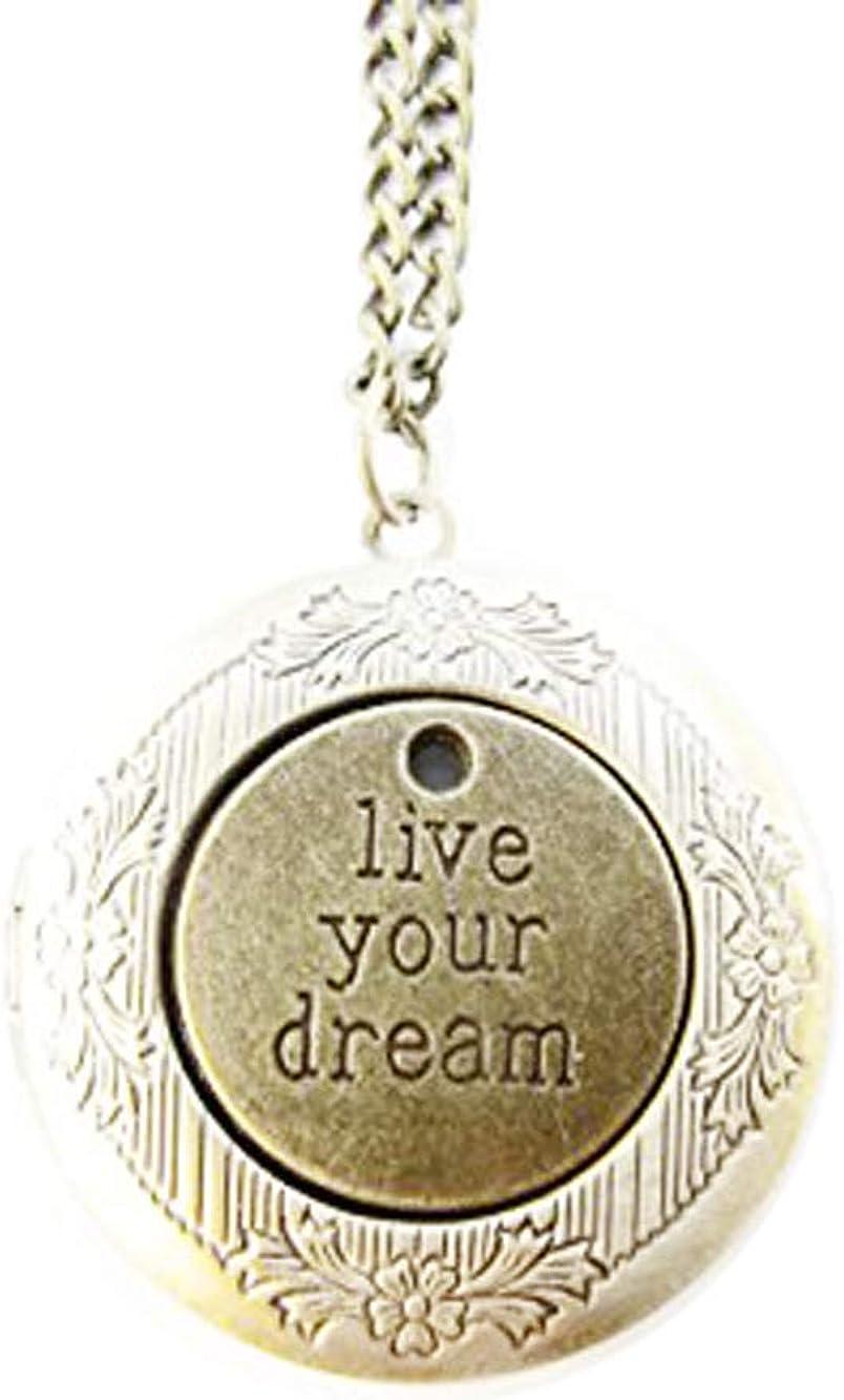 2Pcs Dream Locket Pendant,live Your Dream Locket Necklace,follow Your Dreams Locket Jewelry,ancient Bronze