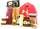Confezione albero di Natale rosso, con doppio fiocco in raso, Best wishes, 34,5x30x33, prodotti artigianali di qualità, tipici della cucina tradizionale piemontese. PRODOTTO ARTIGIANALE MADE IN ITALY - PIEMONTE