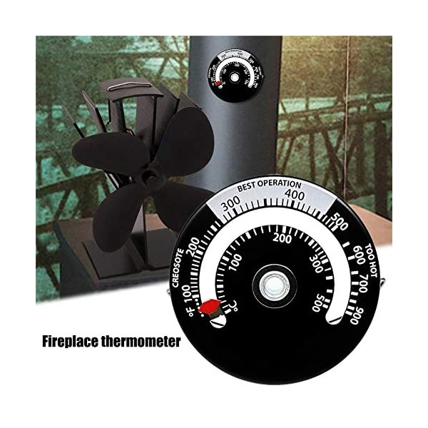 VERLOCO Termómetro de Chimenea, Monitor de Temperatura del Horno, Termómetro de Horno para Estufa de leña, Lecturas…