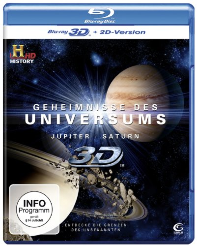 Geheimnisse des Universums 3D - Jupiter/Saturn (History) [3D Blu-ray + 2D Version]