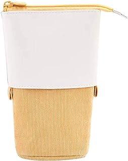 Crayon télescopique Porte télescopique Trousse télescopique Stationery Case PU Stand-up Transformateur Sac multifonctionne...
