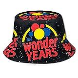Bingyingne Sombrero de Pescador Unique Fisherman's Hat Wonder Vector Logo General Caps for Men and Women Design Hat
