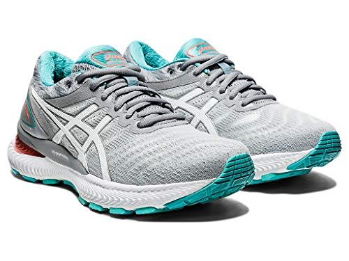 ASICS Women's Gel-Nimbus 22 Running Shoes, 8.5, Sheet Rock/White