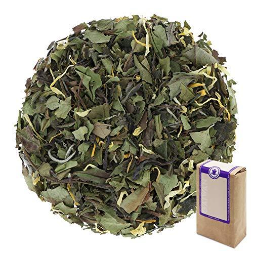 Núm. 1205: Té blanco 'Pai Mu Tan de maracuyá' - hojas sueltas - 250 g - GAIWAN® GERMANY - té blanco de China, caléndula