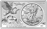 Power Coin Silver Eagle 35 Aniversario 2 Oz Bar Incl. 1 Oz Moneda Plata 1$ USA 2021