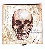 MR Caja Cuadrada Skull, Calavera, 12 X 12 X 7 CM