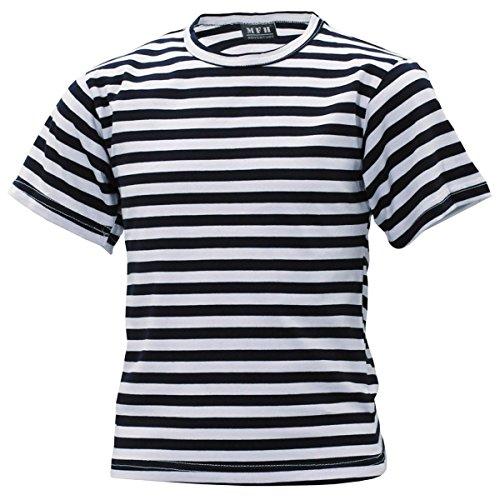 MFH Kinder Russisch marine shirt blauw wit Kids Matrozen Shirt gestreept zomershirt S-XXL