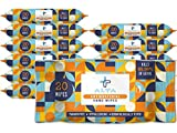 ALTA + Alcohol Free Hand Sanitizing Wipes, Travel Size, 20 Wipes, 12 Packs, Total 240 Pieces