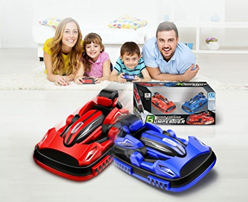 Inverlee Remote Control RC Bumper Cars RC Toy Game 2 Radio Control Vehicles,Great Xmas Gift for Children (As Picture)