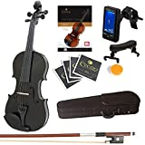 Best Full Size Violins - Mendini 4/4 MV-Black Solid Wood Violin with Tuner Review