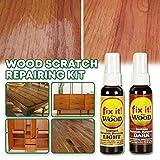 DEtrade Holzlack Kratzer-Reparaturmittel Reparaturlack 2 Stück Instant Fix Holz Kratzer-Entferner Reparatur Farbe für Holz Tisch Bett Boden Reparaturset für Holzkratzer (Brown)