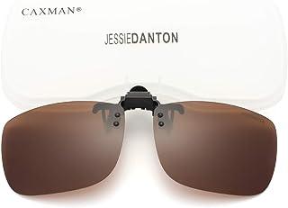 Polarized Clip-on Flip Up Metal Clip Rimless Sunglasses...