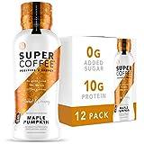 Kitu Super Coffee, Keto Protein Coffee (0g Added Sugar, 10g Protein, 70 Calories) [Maple Pumpkin] 12 Fl Oz, 12 Pack   Iced Smart Coffee Drinks