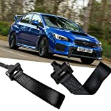 Subaru Legacy Racing Tow Hooks - Xotic Tech Black JDM Sporty Tow Hook Adapter with Towing Strap for Subaru Outback Legacy Impreza