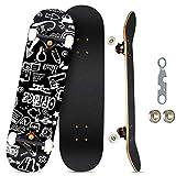 KOVEBBLE Skateboard Komplett Board 31 x 8 Zoll mit...