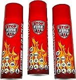 3er Set Lönartz 500 Feuerlöschspray (Feuerlöscher) (auch für Fettbrände, 3x500g netto) Reinold Max