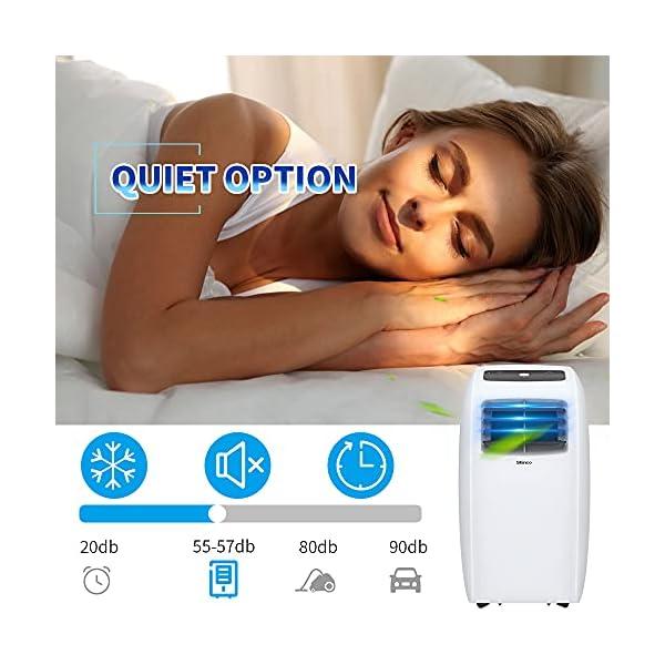 Shinco 7000BTU Condizionatore Portatile, 2,1kW, 3 in 1 con Tubo di Scarico, Raffreddamento, Deumidificazione e Ventilazione, Eco R290 4 spesavip