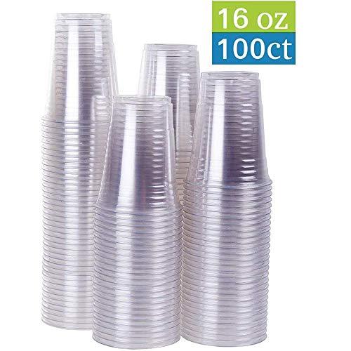 TashiBox Ice Coffee Cups To Go 16 Ounce, 100 Cups farblos