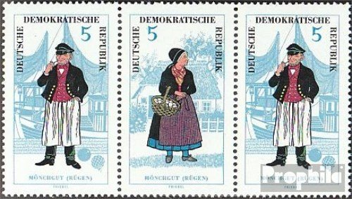 DDR mer.-no.: WZd151 1964 Costumes (Timbres pour Les collectionneurs) Uniformes / Costumes