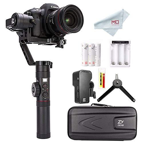 ZHIYUN Crane 2 (2018 Nouvelle) Caméra Stabilisateur Gimbal avec Servo Follow Focus Gratuit, 3-Axes Handheld Stabilisateur pour DSLR caméras jusqu'à 3.2 KG 18hrs de Fonctionnem et écran OLED