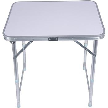 Mountain Warehouse Table Pliante - Table légère en Plastique Durable, Extensible et Pliante - pour Camper l'été, Les Voyages, la randonnée