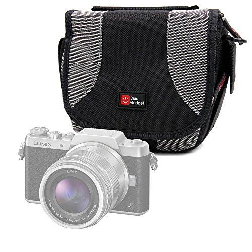 DURAGADGET Bolso Negro Y Gris para Cámara Lumix GF8   DMC-FZ300   Nikon Coolpix B500   B700 Bridge   Pentax K-1 SLR