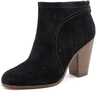 Honey Womens Black Suede Leather High Heel Ankle Booties