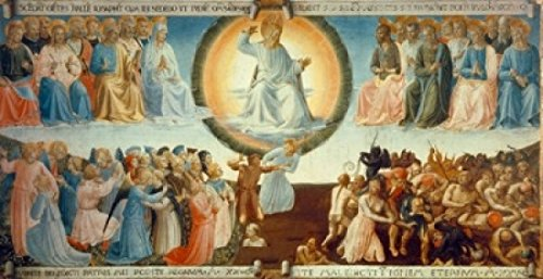 Posterazzi Last Judgment Poster Print by Fra Angelico (ca.1395-1455) Italy Florence Museo di San Marco 1430, (24 x 36)